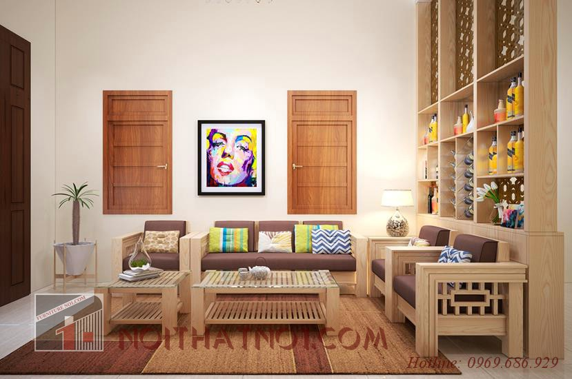 mẫu sofa gỗ đẹp