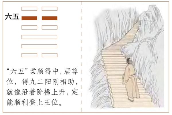 Quẻ Địa Phong Thăng - Hào 5