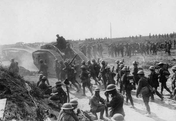 Phe đồng minh tiến vào Bapaune, Pháp năm 1917