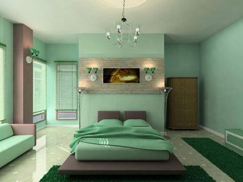lựa chọn màu sắc phòng ngủ