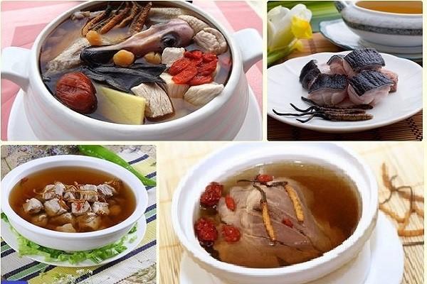 Những món ăn từ thịt ngan và đông trùng hạ thảo