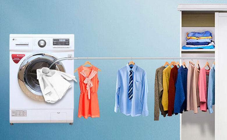 Quần áo khô luôn ngay sau khi được sấy