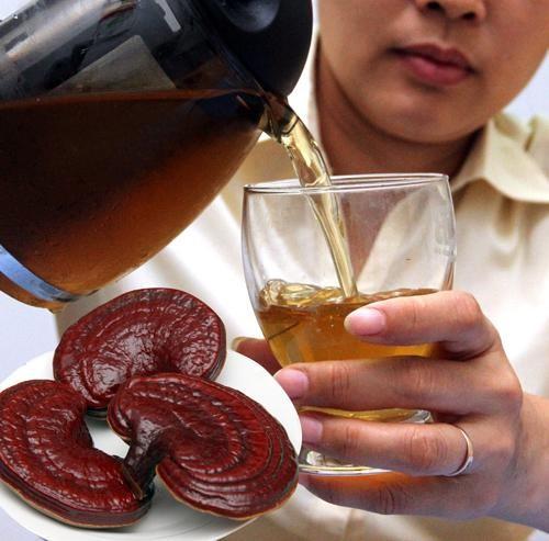Uống nấm linh chi thay nước tốt cho sức khỏe