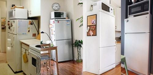 Tại sao không nên để lò vi sóng đặt trên tủ lạnh