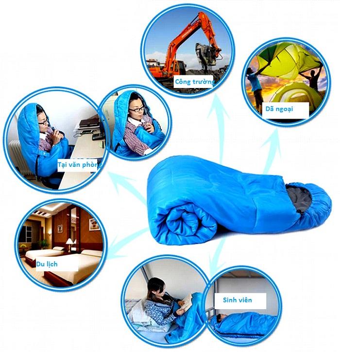 Túi ngủ - vật dụng quen thuộc và phổ biến trong đời sống hiện nay