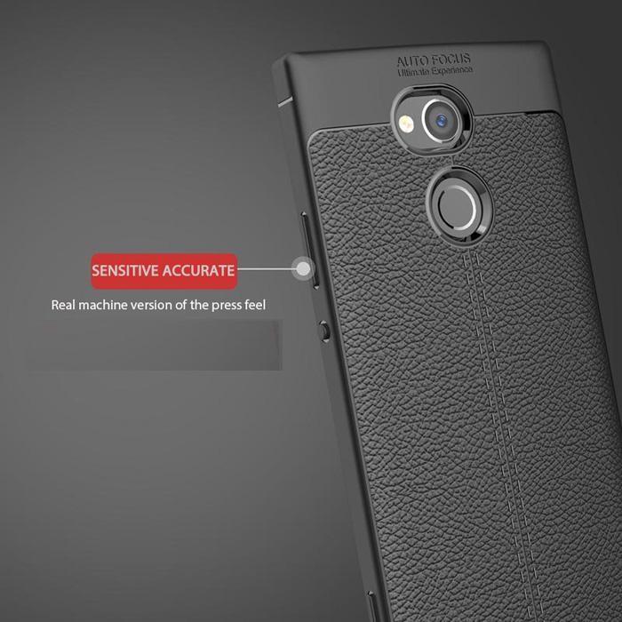 Mẫu Ốp điện thoại silicon giả da dành cho Sony Xperia L2