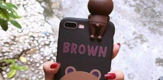 Ốp điện thoại in hình gấu đáng yêu
