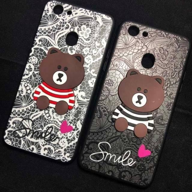 Ốp lưng điện thoại hình gấu dành cho Oppo F5