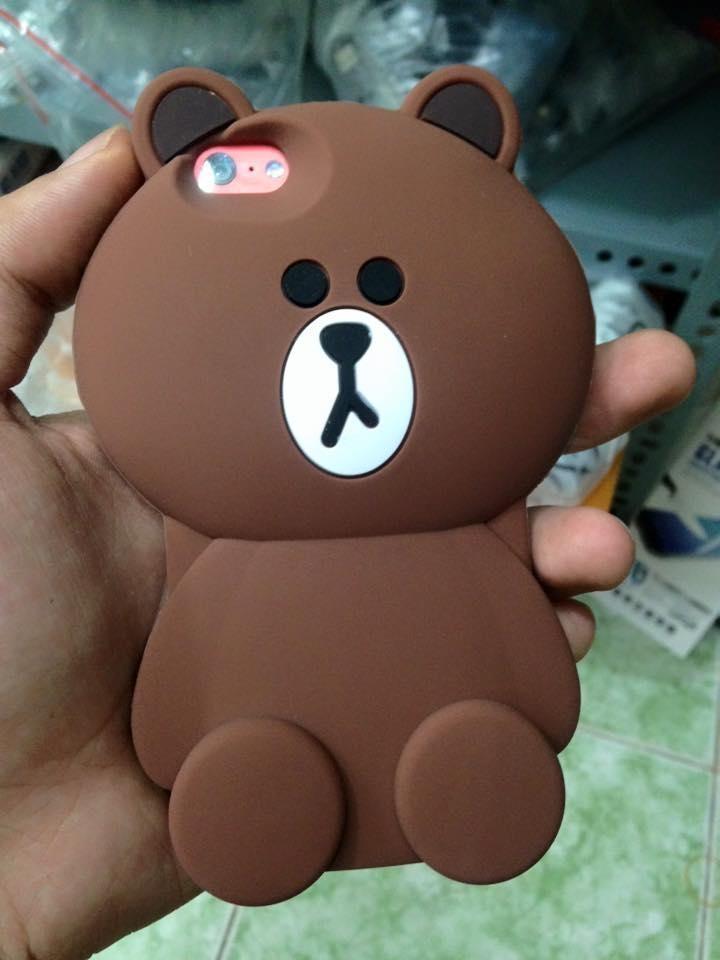 Ốp lưng điện thoại hình gấu cho iphone 5