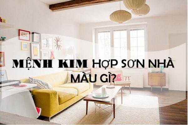 Cách chọn màu sơn nhà theo mệnh Kim