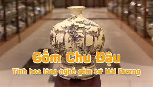 Bình hút tài lộc cá chép - Bình gốm của làng Chu Đậu